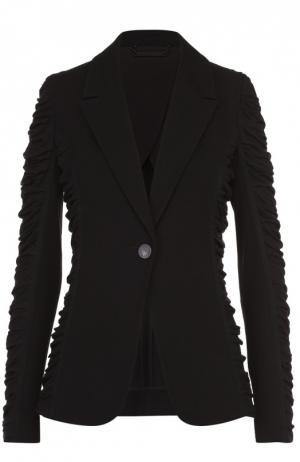Приталенный жакет с декоративной драпировкой Diane Von Furstenberg. Цвет: черный