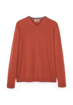 Пуловер Mango Man. Цвет: оранжевый