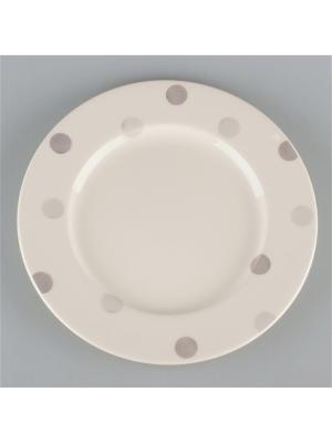 Набор  6 тарелок 17см Модди Quality Ceramic. Цвет: белый