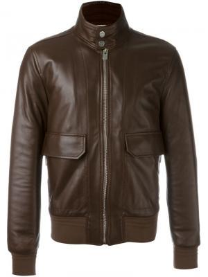 Куртка с накладными карманами Bally. Цвет: коричневый