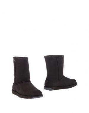 Полусапоги и высокие ботинки EMU. Цвет: темно-коричневый