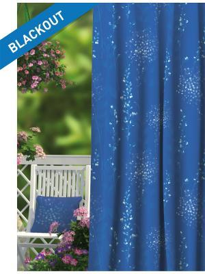 Штора (1шт.) Волшебная ночь 150см*270см, ткань-Блэкаут,  стиль-ПРОВАНС, BLUELEAVES. Цвет: синий