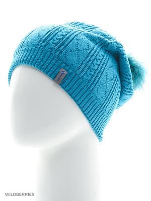 Шанхай Беркле шапка женская с помпоном Berkle. Цвет: бирюзовый