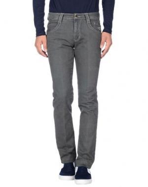Повседневные брюки CARLO CHIONNA. Цвет: свинцово-серый