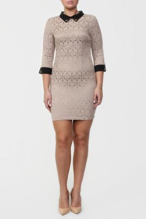 Платье Анора. Цвет: бежевый