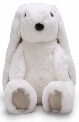 Мягкая игрушка Заяц Yves Salomon Enfant. Цвет: белый