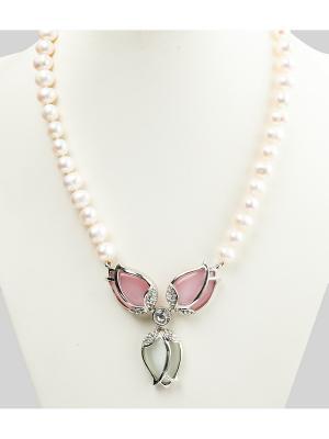 Бусы Oceania. Цвет: белый, бледно-розовый, прозрачный