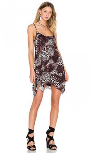 Платье-туника lang Michael Lauren. Цвет: черный