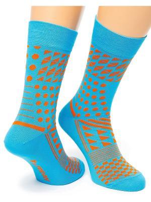 Дизайнерские Носки St.Friday Socks. Цвет: бирюзовый