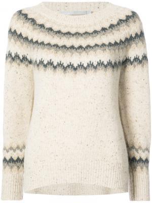 Трикотажный свитер Vince. Цвет: телесный
