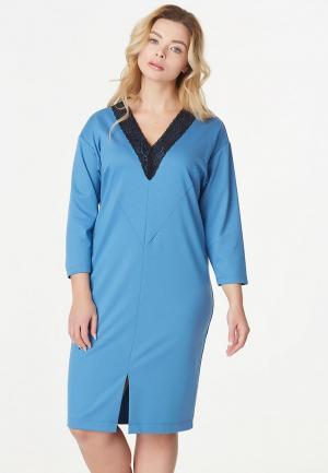 Платье Fly. Цвет: голубой