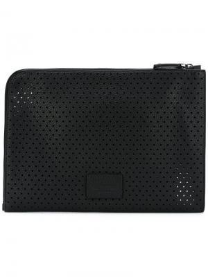 Перфорированная сумка Valentino. Цвет: чёрный