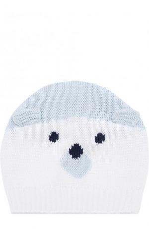 Хлопковая шапка с декором Catya. Цвет: голубой