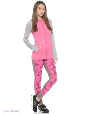 Толстовка Ult Flc Fz Hdy Adidas. Цвет: малиновый