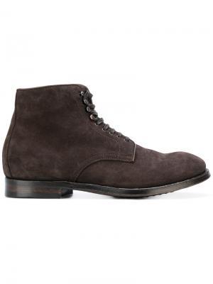 Ботинки на шнуровке Officine Creative. Цвет: коричневый