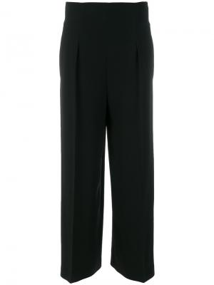 Расклешенные брюки с высокой талией Alberta Ferretti. Цвет: чёрный