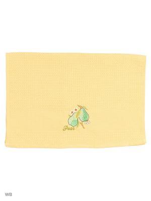 Кухонное полотенце в подарочной коробке ЛЮКС , вафельное 1 шт.40х60 см, 100% хлопок Dorothy's Home. Цвет: горчичный