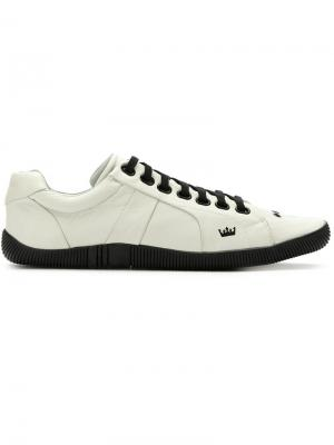 Leather lace-up sneakers Osklen. Цвет: белый
