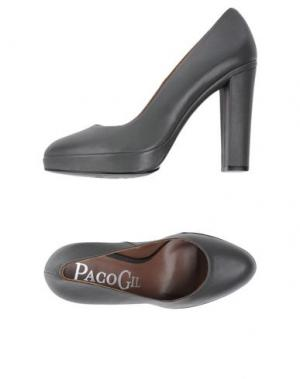 Туфли PACO GIL. Цвет: свинцово-серый