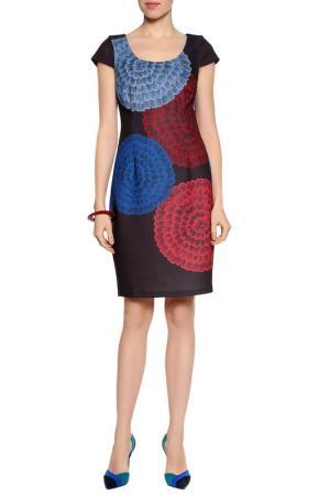 Платье PLENTY. Цвет: синий, красный, черный