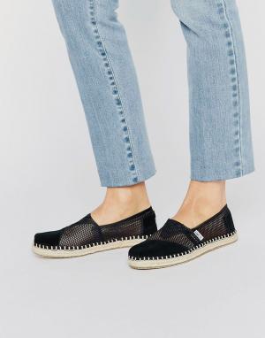 Toms Черные сетчатые туфли. Цвет: черный