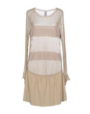 Короткое платье PINKO UNIQUENESS. Цвет: бежевый