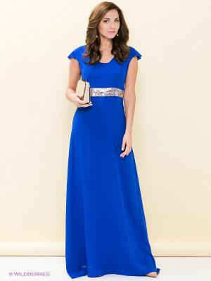 Платье LOVE&LIGHT. Цвет: синий