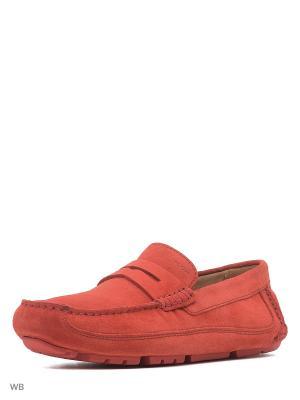Мокасины GEOX. Цвет: красный