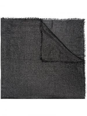 Платок с эффектом металлик Faliero Sarti. Цвет: чёрный