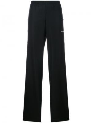 Широкие брюки с пуговицами по бокам Misbhv. Цвет: чёрный