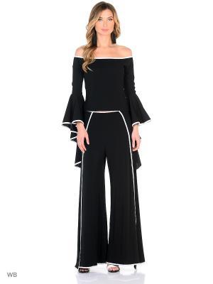 Комплект: блузка, юбка-брюки X'Zotic. Цвет: черный