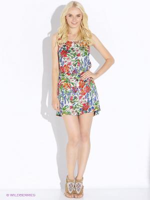 Платье Up Girl. Цвет: молочный, красный