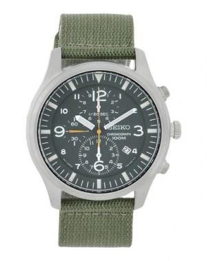 Наручные часы SEIKO. Цвет: зеленый-милитари