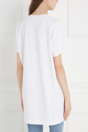 Хлопковая футболка Chapurin. Цвет: белый