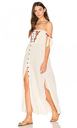 Макси платье solita Cleobella. Цвет: белый