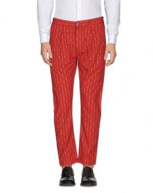Повседневные брюки DANIELE ALESSANDRINI. Цвет: красный