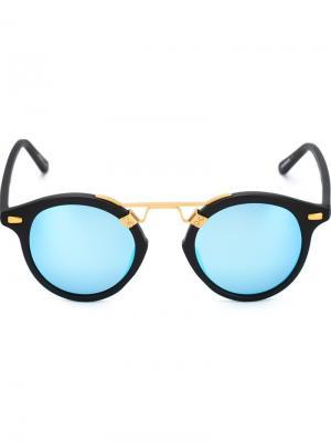 Солнцезащитные очки St. Louis Krewe Du Optic. Цвет: синий