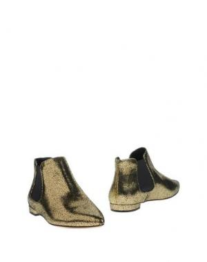 Полусапоги и высокие ботинки SEMILLA. Цвет: золотистый