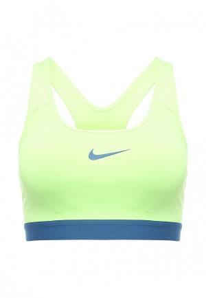 Топ спортивный Nike. Цвет: зеленый