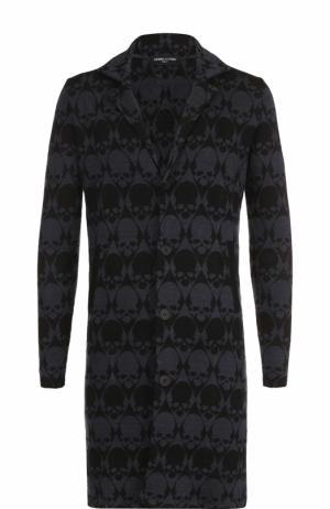 Удлиненный льняной пиджак с отложным воротником Gemma. H. Цвет: черный