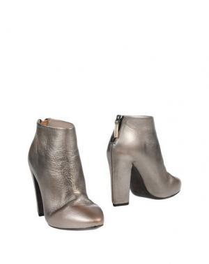 Полусапоги и высокие ботинки EL. Цвет: серый