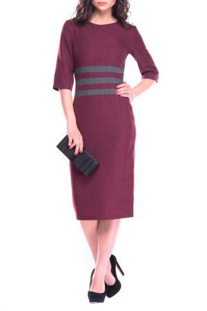 Платье MAURINI. Цвет: темно-сливовый, графитовый