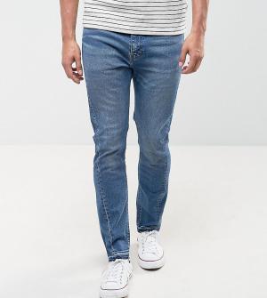 Levis Светлые выбеленные джинсы скинни 510. Цвет: синий