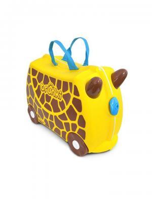 Чемодан на колесиках Жираф Джери TRUNKI. Цвет: коричневый, голубой, желтый