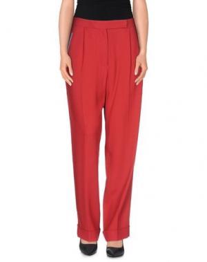 Повседневные брюки MARCO DE VINCENZO. Цвет: красный