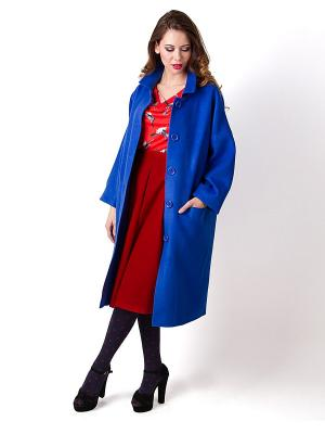 Пальто Vika Smolyanitskaya. Цвет: синий