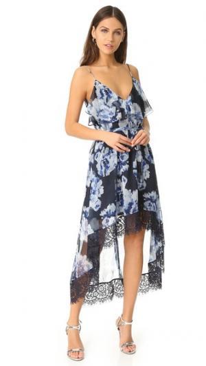 Миди-платье Abloom Talulah. Цвет: иллюзорный цветочный принт