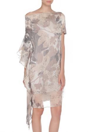 Платье LIU-JO. Цвет: бежевый микс
