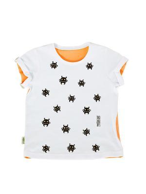 Футболка Пришельцы Sardina Baby. Цвет: черный, оранжевый, белый
