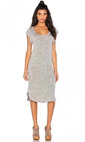 Платье миди marisa Riller & Fount. Цвет: серый
